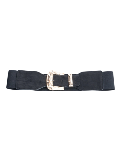 Stretch belt with west buckle