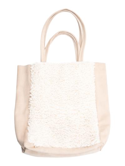 Handbag suede with teddy