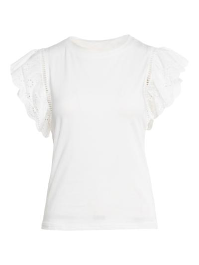 T-shirt met ajourdetail