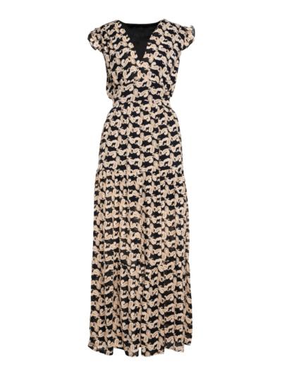 Lange jurk met cashmere print