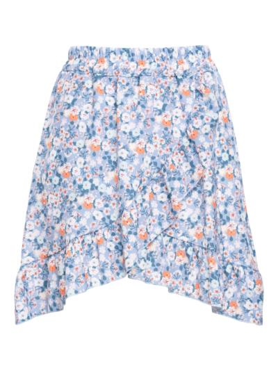 Korte rok met overslag en print
