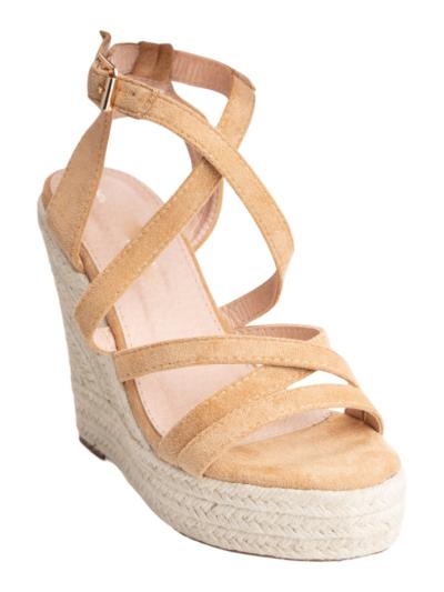 Sandaal sleehak riempjes