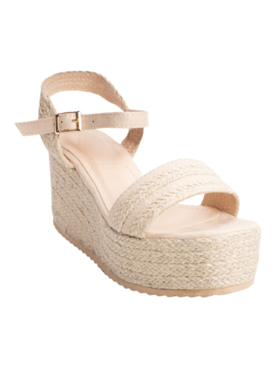 Sandaal sleehak relief