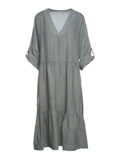 Lange linnen jurk