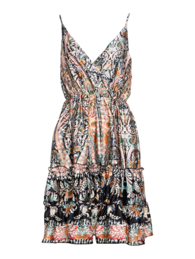 Korte jurk met cashprint