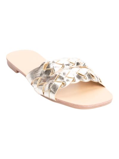Sandaal gevlochten