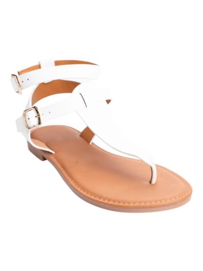 Griekse sandaal met 2 gespen