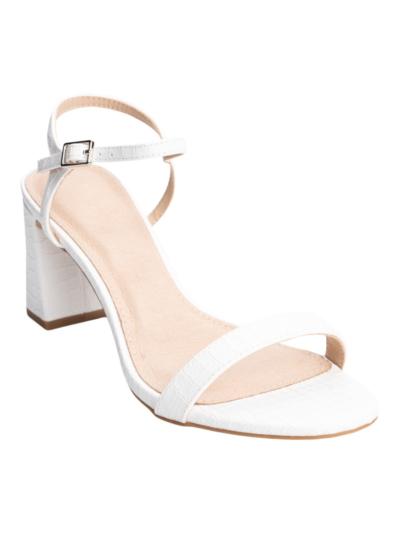Sandaal met lage hak
