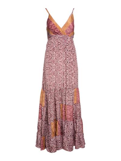 Lange boho jurk met print