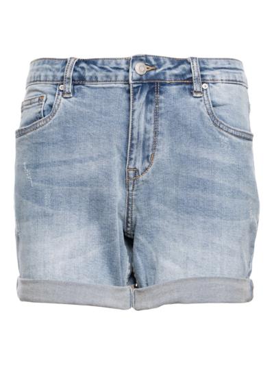Jeansshort met overslag