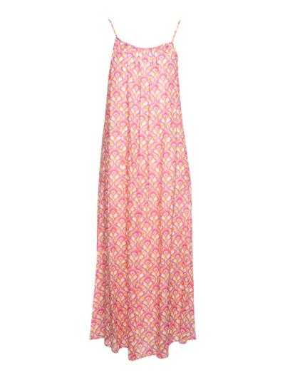 Lange jurk met fijne bandjes