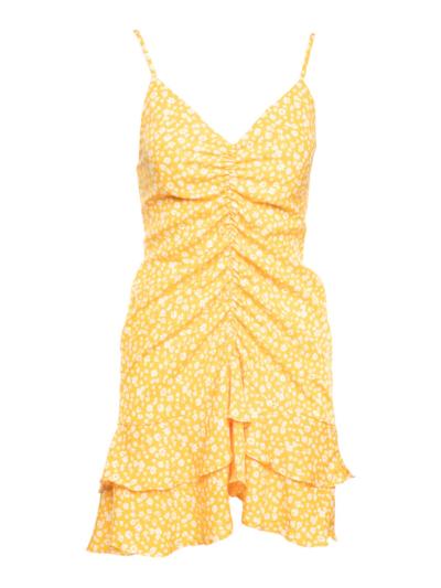 Korte jurk met libertyprint