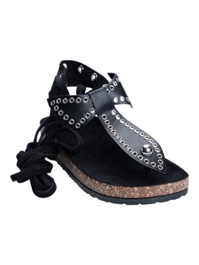 Sandaal met strik en studs