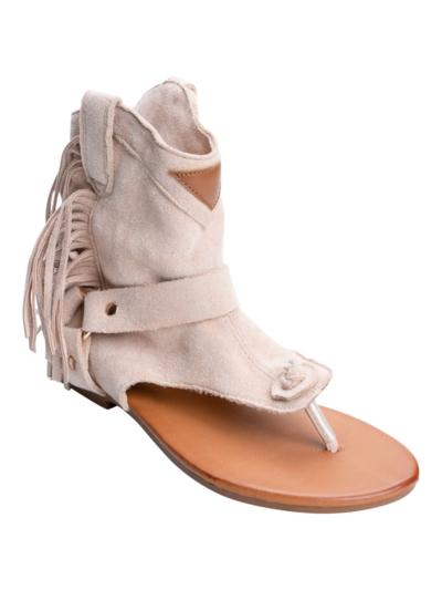 Sandaal met franjes