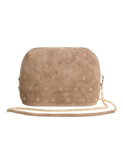 Buckskin handbag with studs