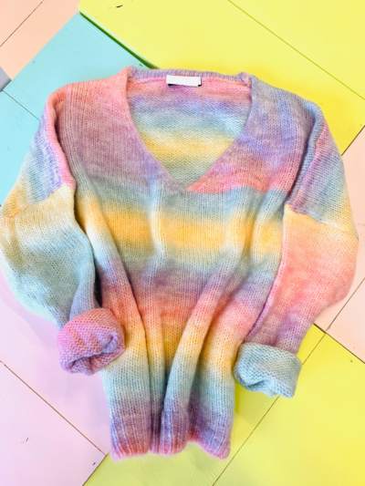 Sweater Rainbow V-Neck