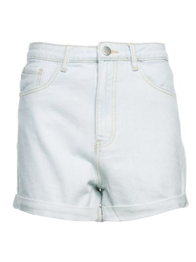 Jeans short met hoge taille