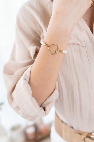 Armband parls hart