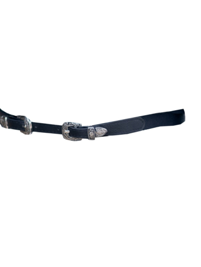 Fine stretch belt with buckle