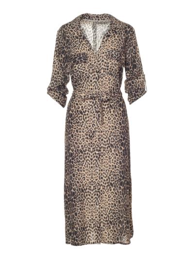Lange hemdjurk in leopard
