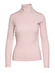 Roll neck sweater with rib