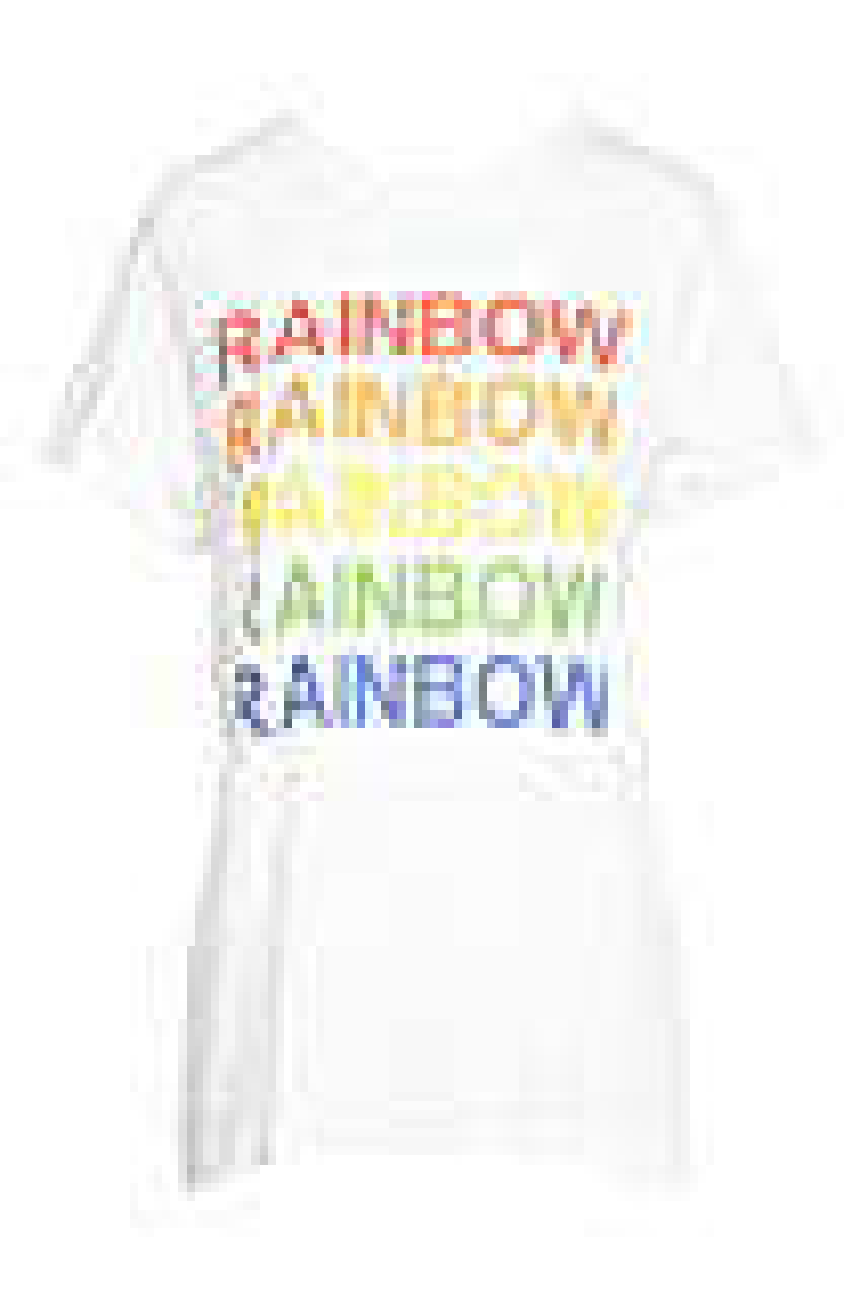 T-Shirt met Rainbow print